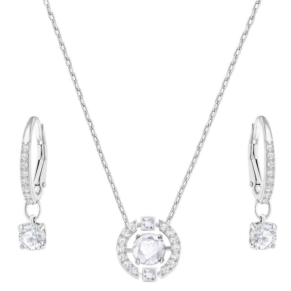 Swarovski Sparkling Dance Rhodium Plated Crystal Pendant