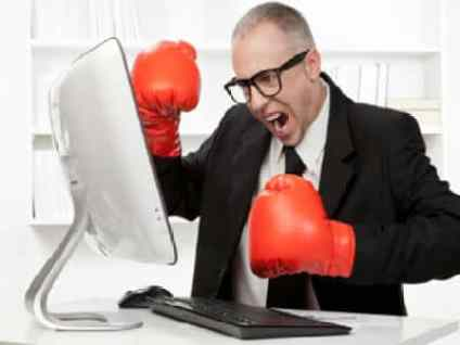Image result for photo of an angry blogger
