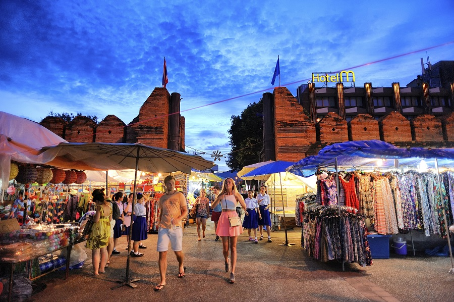 Chiang Mai, Thailand and the Tha-Phae gate (Photo: Getty)