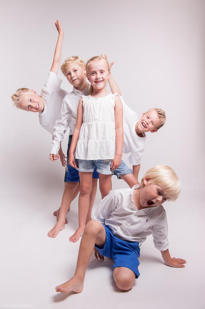 Séance photo famille norvégienne en studio