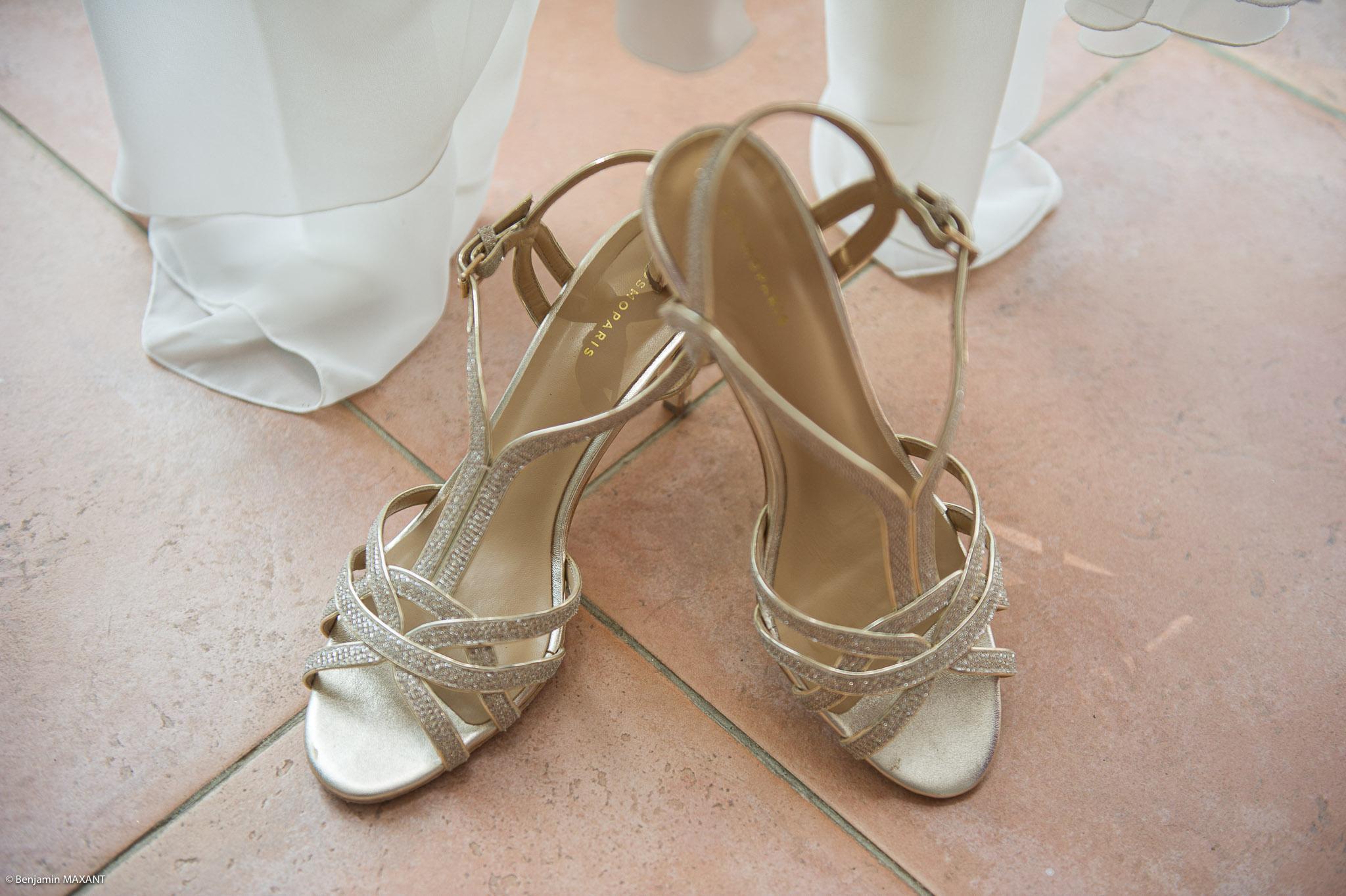 La préparation de la mariée : les chaussures à talon