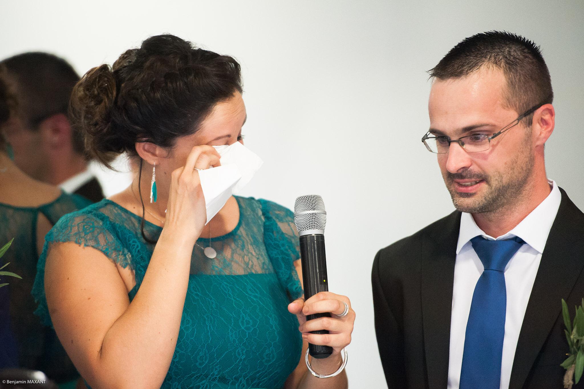Les discours des témoins lors de la cérémonie laïque