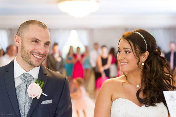 Photo des mariés à la mairie