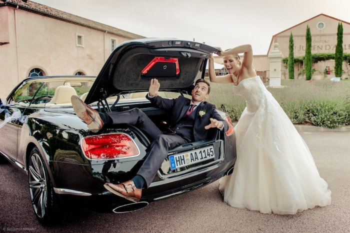 Photo mariage fun rigolo