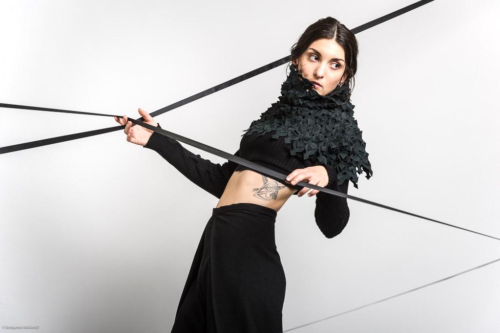 Séance photo artistique styliste makeup en studio