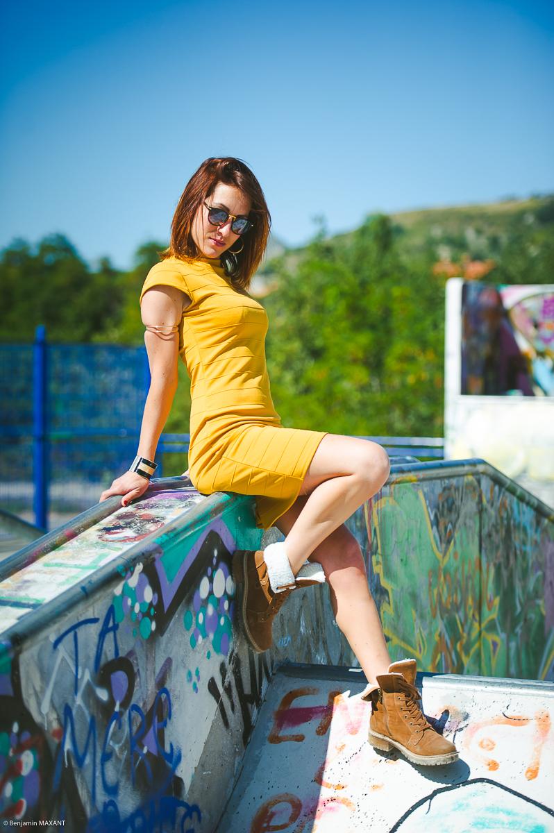 Séance photo fashion avec Mathilde à Digne-les Bains