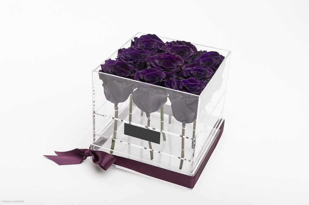 Photo shoot packshot inifinity Monte Carlo purple roses