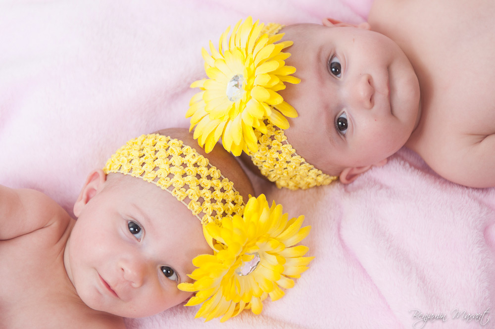 Baby twins photo shoot at home