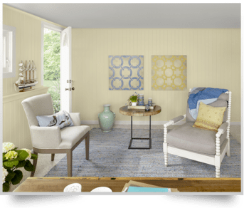 A Neutral color palette in home staging