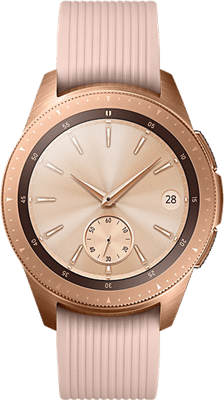 Samsung Galaxy Watch 42mm (4GB Rose Gold) on Smartwatch (24 Month(s) contract) with UNLIMITEDMB of 4G data. £20.00 a month.