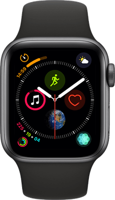 Apple Watch Series 4 44 mm (GPS+Cellular) Space Grey Aluminium Case with Black Sport Band at £30.00 on Smartwatch (24 Month(s) contract) with UNLIMITEDMB of 4G data. £26.00 a month.