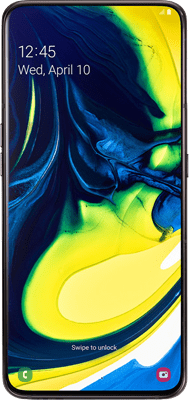 Samsung Galaxy A80 (128GB Phantom Black) at £30.00 on 4G Essential 10GB (24 Month(s) contract) with UNLIMITED mins; UNLIMITED texts; 10000MB of 4G data. £49.00 a month. Extras: EE: Service Pack Benefits.