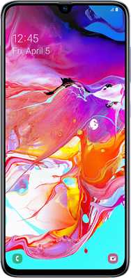 Samsung Galaxy A70 Dual Sim (128GB White) at £50.00 on 4G Essential 1GB (24 Month(s) contract) with UNLIMITED mins; UNLIMITED texts; 1000MB of 4G data. £25.00 a month. Extras: EE: Service Pack Benefits.