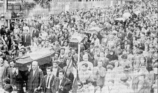 Funerales tras matanza en Puerto Montt