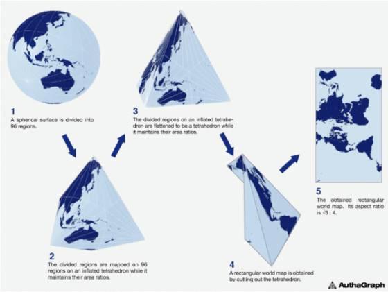 Artista japonés crea mapa más fiel del mundo