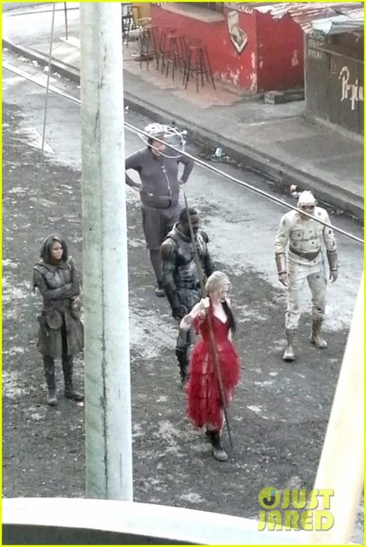 Harley Quinn recording in The Suicide Squad