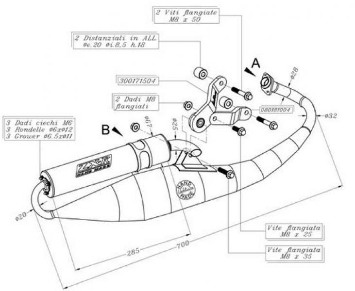 5592R MARMITTA LEOVINCE ZX-R PIAGGIO NRG-MC3 KAT (2001