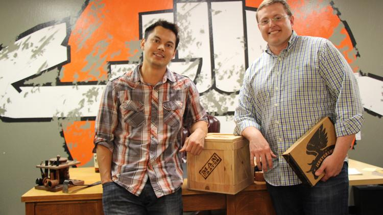 Redwood City-based Man Crates, co-founded by Sam Gong (left) and Jonathan Beekman, was the fastest growing privately owned company from the Bay Area on this year's Inc. 5000 ranking.
