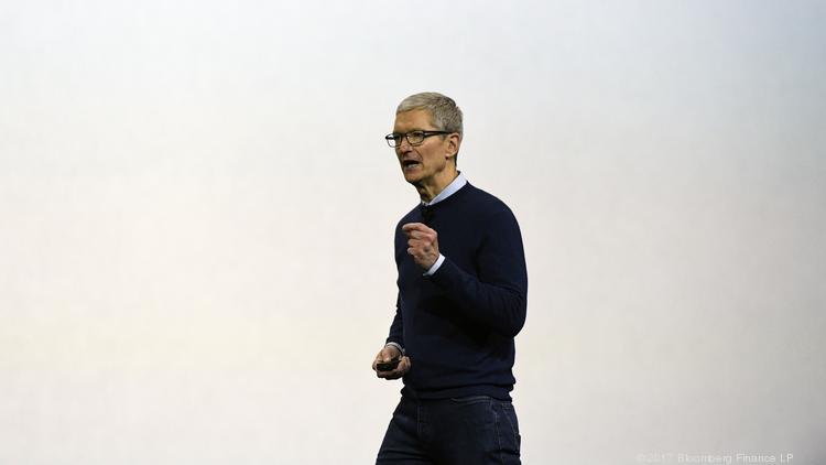Tim Cook, chief executive officer of Apple Inc., speaks during the 2017 Apple Worldwide Developers Conference in San Jose on June 5, 2017.