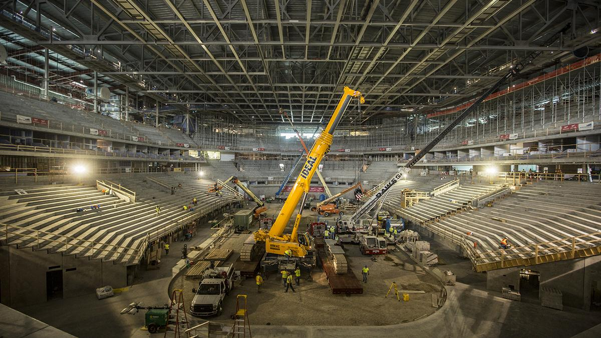 See latest in construction of Milwaukee Bucks new arena