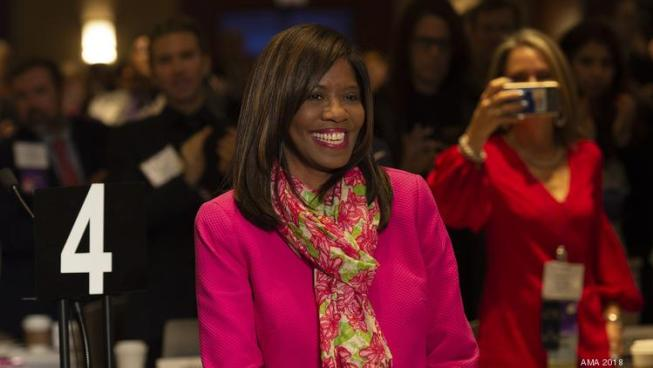 Patrice Harris, who is the chief health officer for Fulton County, is the first African-American woman to be elected president of the AMA.