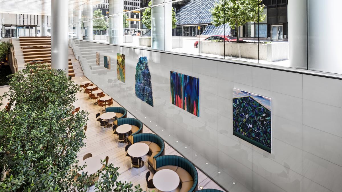 Understory food hall in Skanskas Bank of America Tower to