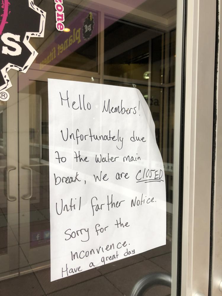 Water Main Break Closes Parts Bank Of America Office Tower Baltimore Business Journal