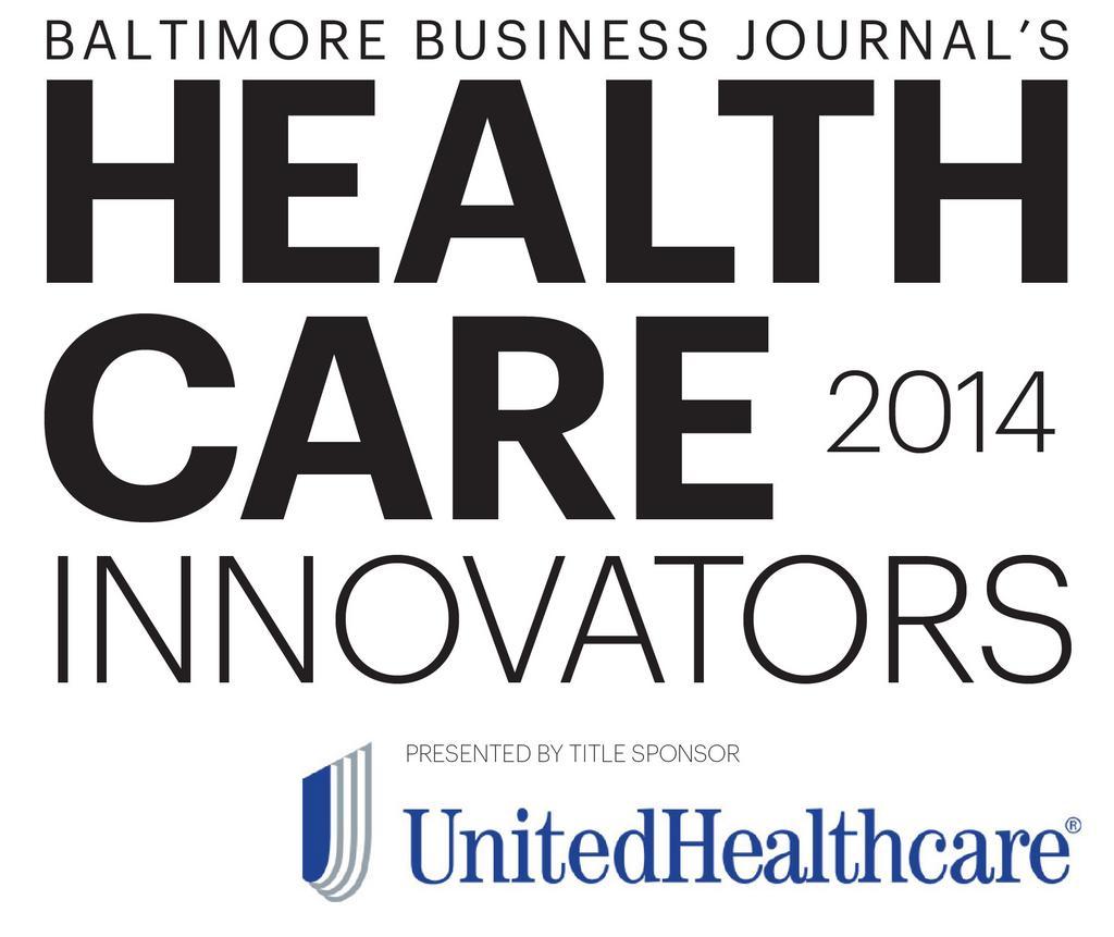Baltimore Business Journal Health Care Innovators 2014