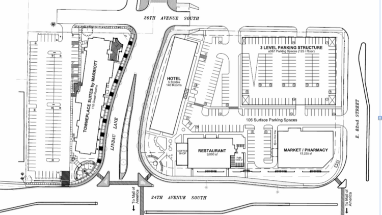 Hotel, restaurant and parking ramp planned near Mall of