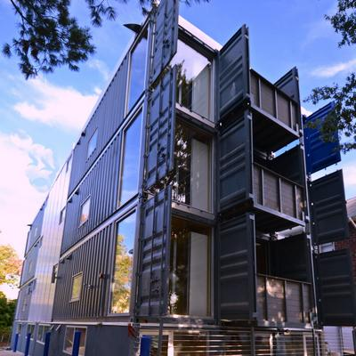 D C S First Shipping Container Apartments Are Finished Here How They Look Video Washington Business Journal