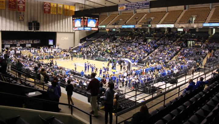 The 2014 CAA basketball tournament at Royal Farms Arena in Baltimore.