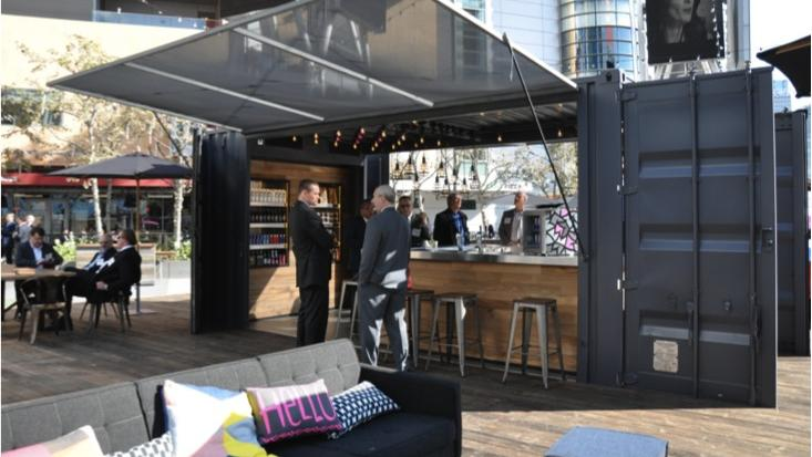Marriott International Inc to host shipping container bar