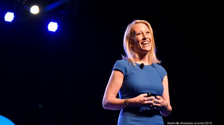 Julia Hartz, co-founder and president of Eventbrite, keynotes the 2015 36|86 conference at Marathon Music Works in Nashville.