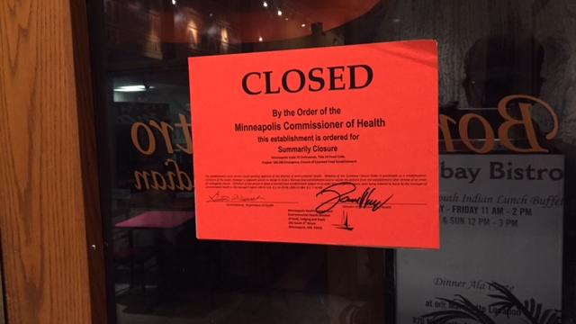 Two Bombay Bistro locations closed due to health