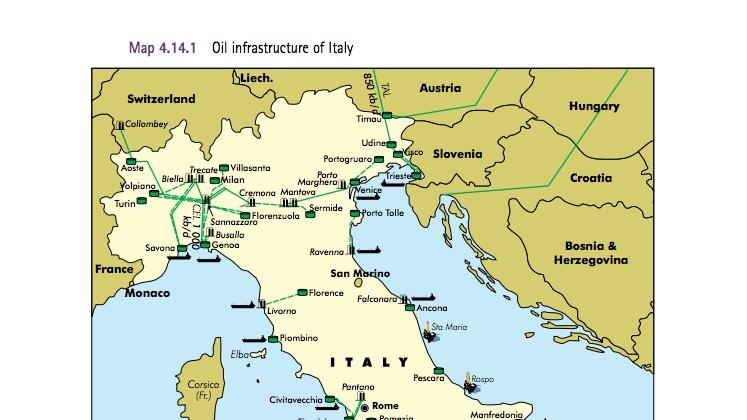 The International Energy Agency provided a detailed look at oil industry infrastructure in Italy, the second largest refiner in Europe.