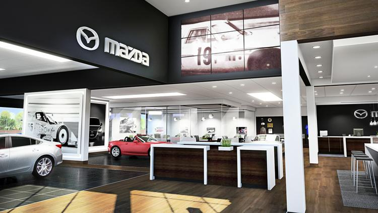 A large video screen, an updated customer lounge and a merchandise boutique are planned as part of the overhaul of Oxmoor Mazda.