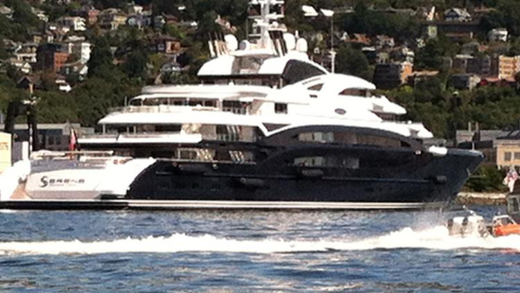 As Bill Gates Lounges Aboard The 440 Foot Serene Super