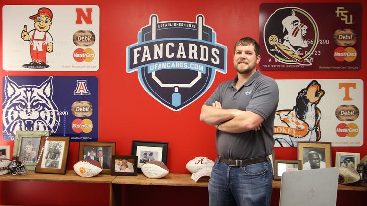 Greg Boggs started University FanCards in 2015 and has seen his business spread nationwide