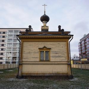 Ortodoxa kyrkan mitt det moderna Torneå.