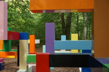 Ett konstverk i Wanås som skapar glädje hos ung som gammal.
