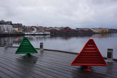 I Norra hamn i Luleå en oktobermorgon.