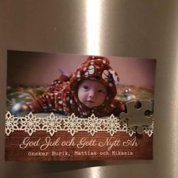 12 december - Malin Ett riktigt julkort i en vanlig brevlåda :)