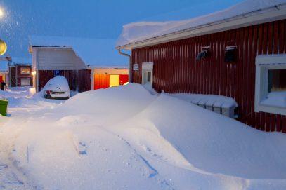 En vinter med mycket snö i Luleå - av Eva
