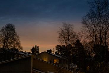 Kvällsskymning på Bergviken -av Margareta