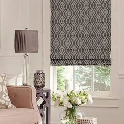 Window Treatments For Living Room Wall Colors With Black Furniture Blinds And Shades Custom Coverings Roller Photo Of A Roman Shade