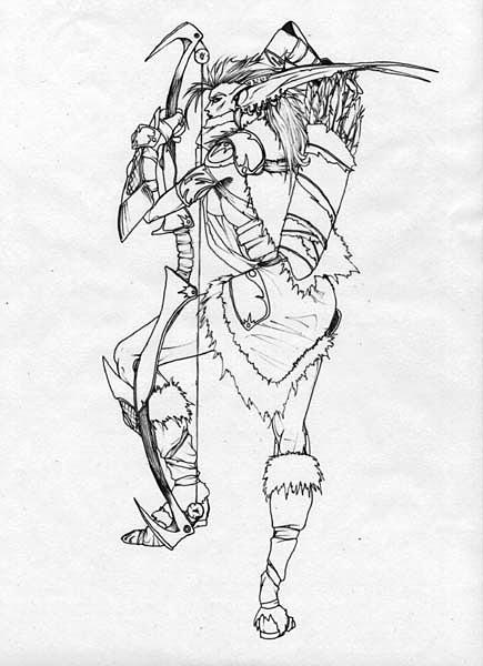 Artcraft-Huntress of Teldrassil (New Female Night Elf