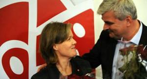 Carin Jämtin och Håkan Juholt. Foto: Linda Håkansson, SAP