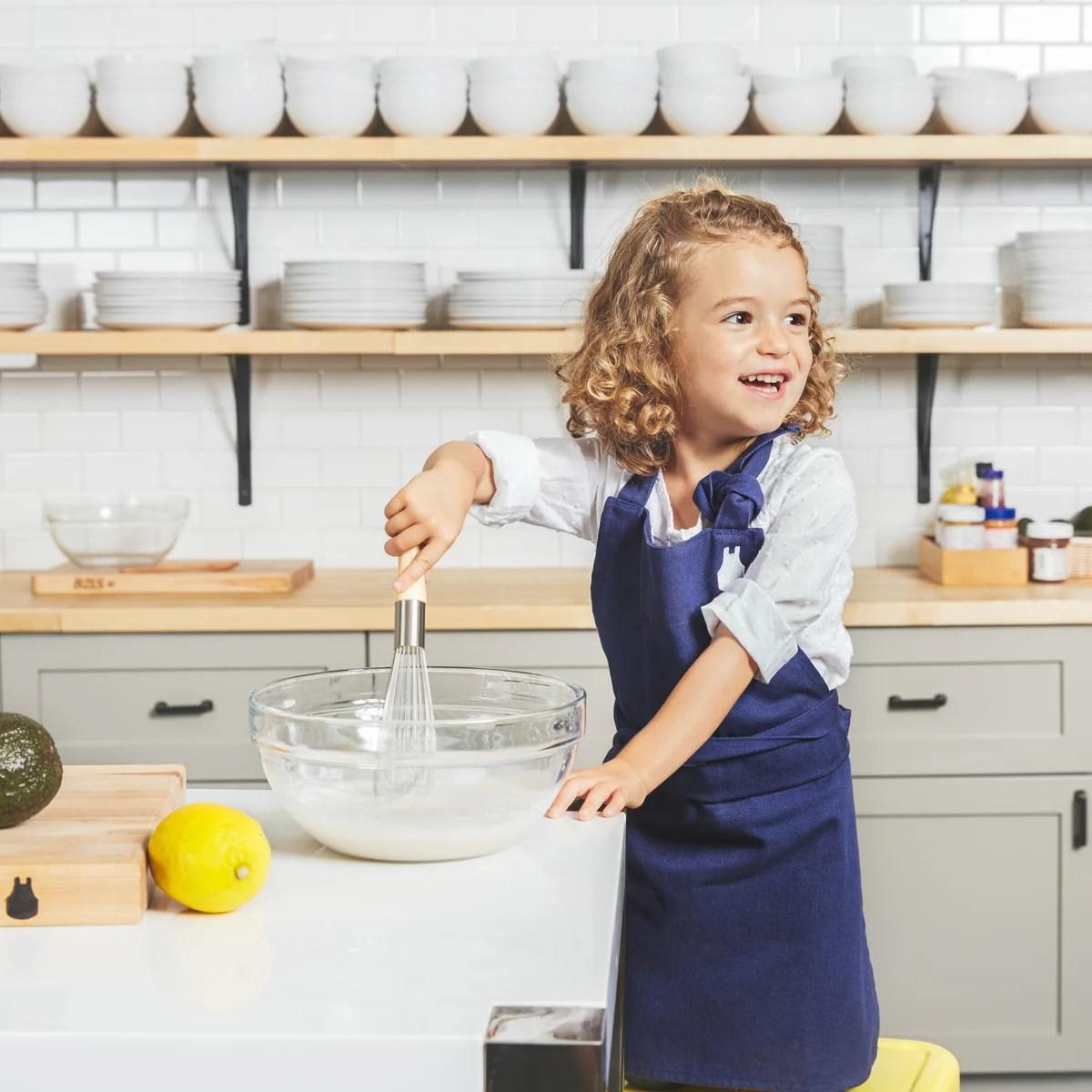kitchen apron for kids sink drain installation the children s blue