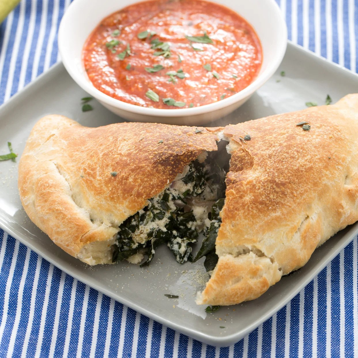 Recipe Ricotta & Lacinato Kale Calzones With Marinara