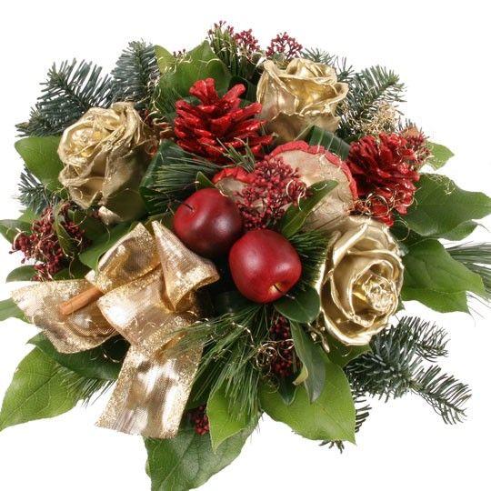 Blumenstrau Weihnachtsglanz mit Gratiszugabe Ihrer Wahl  Blumen online deutschlandweit